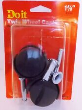"""TWIN WHEEL FURNITURE CASTERS 2 pack 1 5/8"""" 40# Load Capacity"""