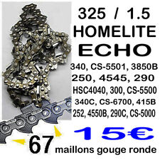 Chaine tronconneuse 67 maillons 325 Homelite  ECHO coupe 40cm