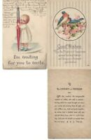 Vtg Assorted Greetings Postcards Circa 1800's-1900's Lot of 5 *