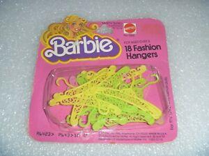 Barbie 18 Fashion Hangers (NOS) Almost Vintage~*~Made in USA~*~Mattel #1065