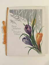 Vintage Card - Best Wishes For Bright Days - Sharpens Classic Christmas Card