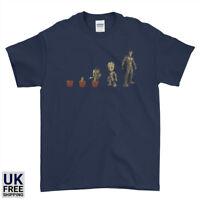 Evolution Groot Guardians Of the Galaxy Mens Womens Kids T-Shirt