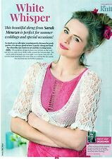 """~ Pull-Out Knitting Pattern For Beautiful Lacy Shrug ~ 26"""" ~ 40"""" ~"""