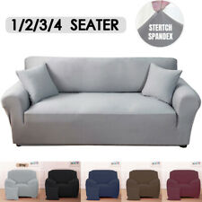 1/2/3/4 Seat Stretch Spandex Chair Sofa Couch Cover Elastic Slipcover Protector