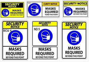 Please wear a face mask to enter this store - Vinyl Stickers or Plastic boards