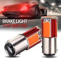 2PCS 1157 BAY15D COB SMD LED Red Car Tail Stop Brake Turn Signal Light Bulbs 12V