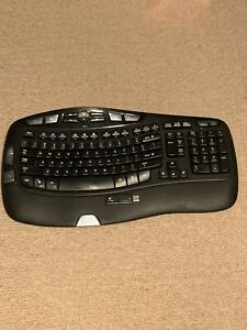 LOGITECH WAVE Y-RCP140 Wireless Keyboard And Receiver USB TESTED & WORKS**