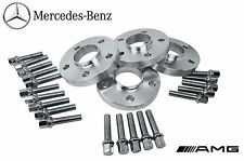 4 Mercedes Benz 5x112 Staggered 12 MM & 20 MM Hub Centric Spacers W/ Lug Bolts