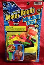"""Toss 'Em Water Bomb Balloon W/ 18"""" Tote Bag & 75 Balloons W/ Quick Fill Nozzle"""
