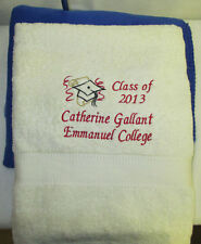 Graduation Bath Sheet - Personalized and Embroidered  35 x 65
