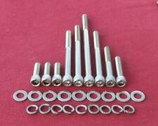 SB V8 FORD 289 alloy water pump stainless steel cap head bolts -1965 non a/c