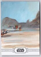STAR WARS CHROME LEGACY SKETCH CARD BY WARD SILVERMAN #1/1