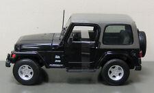 Jeep Wrangler Sahara Diecast Model Truck Car - Maisto - 1:18 Scale - Black
