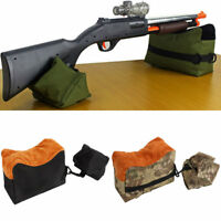 Outdoor Hunting Rifle Shooting Rest Sand Bag Target Gun Front Rear Range Stand