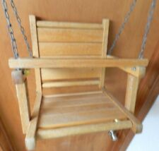 Vintage Wooden PORCH  DOLL/Children's Outdoor Hanging Swing Chair Chain
