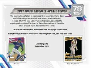 2021 Topps Update Series Baseball JUMBO Box Pre Sale