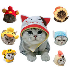 JW_ Cartoon Cat Cotton Plush Hat Dress Up Headgear Headwear Cosplay Head Decor