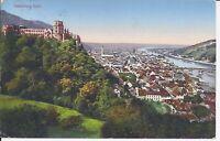 628 Heidelberg total Farbtithopraphie 1915 Schloss Ansichtskarte Baden Württembe