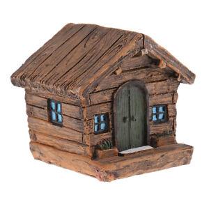 Mini House Figurine Minature Model Farmhouse for Diorama Accessory Kids Gift