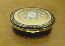More details for large spode floral bouquet enamel box - <2 3/4