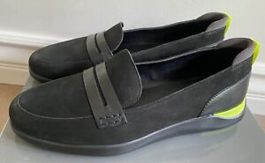 NEW COLE HAAN WOMEN'S LADY ESSEX GRAND PENNY LOAFER BLACK SUEDE SZ 6-1/2