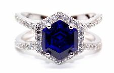 Sterling Silver Tanzanite And Diamond 4.84ct Ring (925) Size 7 (N)