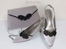 New Jacques Vert Matching Opal Scallop Mesh Shoes & Bag ~ UK 4 RRP £168   (mbb)