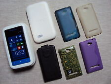 HTC WINDOWS PHONE 8S 4 GB BLEU + 5 COQUES