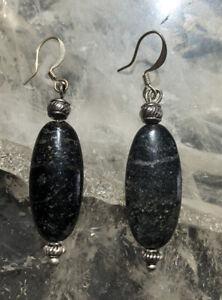 Polished Oval Agate Dangle Earrings