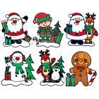 Christmas Window Gel Stickers Xmas Reusable Decoration Santa, Snowman, Reindeer