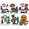 Christmas Window Gel Stickers Xmas Reusable Decoration Santa, Snowman, Reindeer