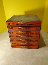 Dorman Products Metal Stack of 7 Stocked Drawers Screws, Washers, Nuts, Bolts...