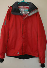 Men's RIPZONE Micro-Lite Recco Red Hooded Winter Snow Jacket 10,000mm Sz L L#380