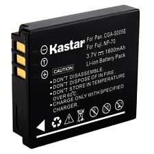 1x Kastar Battery for Panasonic Lumix CGA-S005 DMC-FS2 FX07 FX9 FX50 FX180 LX3
