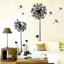 Removable Black White Dandelion Vinyl Decals TV Background Wall Stickers JS