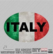 Coche de Italia bandera extranjera Grunge en el extranjero Auto Adhesivo Vinilo Sticker Calcomanía ventana CA