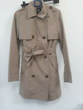 Ladies Primark  Atmosphere Size 6 EUR 34 Coat Jacket  Beige belted dress Coat
