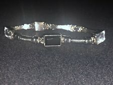 "Stones • Beautiful! • 7.25"" Lia Sophia Bracelet Black & Silver"