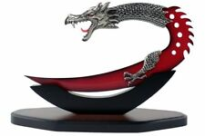 "11.5"" Fantasy Dragon Dagger with Stand Red Blade Brand New"