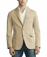 Polo Ralph Lauren Men's Preppy Two Button Beige Brown Sport Coat Jacket Blazer