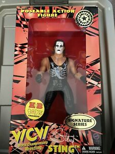 """WCW 12"""" Sting Wolfpac Red Version Old San Francisco Toymakers OSFTM Poseable NWO"""