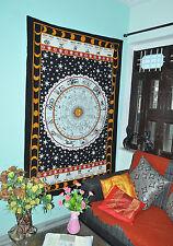 Astrology Black White Zodiac Horoscope Indian Hippie Wall Hanging Celtic Zodiac