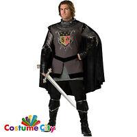 Adult Mens Deluxe Dark Knight Medieval Renaissance Halloween Fancy Dress Costume