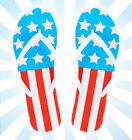 Women's Patriotic Flip Flops America USA American Flag Red, White & Blue Summer