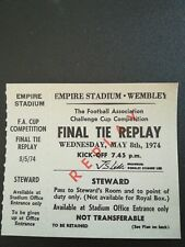 FA CUP FINAL 1974 'REPLAY!!* TICKET LIVERPOOL V NEWCASTLE UNITED STAGGERING!!
