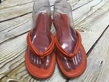 Women's size 7M Apostrophe Orange Leather Sandal Thong Flip-flop