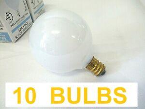 (Lot of 10) Abco -130V (03639) 40w Candelabra Base Small Globe VANITY Bulbs