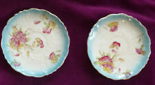 Rare Antique J. Goodwin,Stoddard & Co Foley China Carnation saucers c1898-1910.