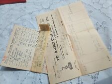 Vintage payment book receipts 1933 Raleigh Cycle Co Ephemera