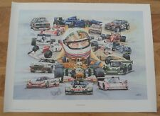 Martin Brundle Personally Autographed Signed Print Collage of 'Martin's Memories